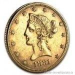 Eagle Zlatá mince americký Liberty 10 dolarů ročník 1906
