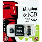Kingston 64GB Mobility Kit G2 class 10 microSDXC + adaptér + čtečka MBLY10G2/64GB