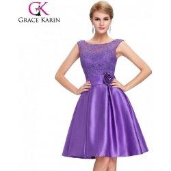 Grace Karin společenské šaty krátké CL6116-3 fialová alternativy ... 20ec654ece1