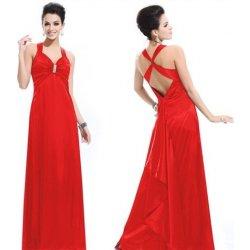dlouhé společenské plesové svatební šaty sexy holá záda červené ... 24ca054c18b