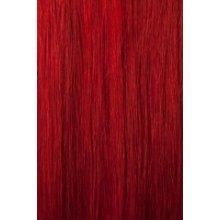 CLIP IN - spona 50 cm červená