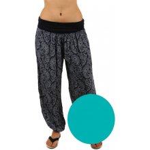 YooY Dámské vzorované harémové kalhoty zelená