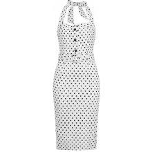 Collectif Wanda pouzdrové šaty s puntíky bílá 505d53709b