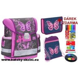 Belmil Školní aktovka 403 13 Purple Flying Butterfly 3-dílný set od ... 170402c723