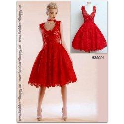 Plesové retro šaty krajkové krátké 539001 červené alternativy ... 4dcf5bfd70c
