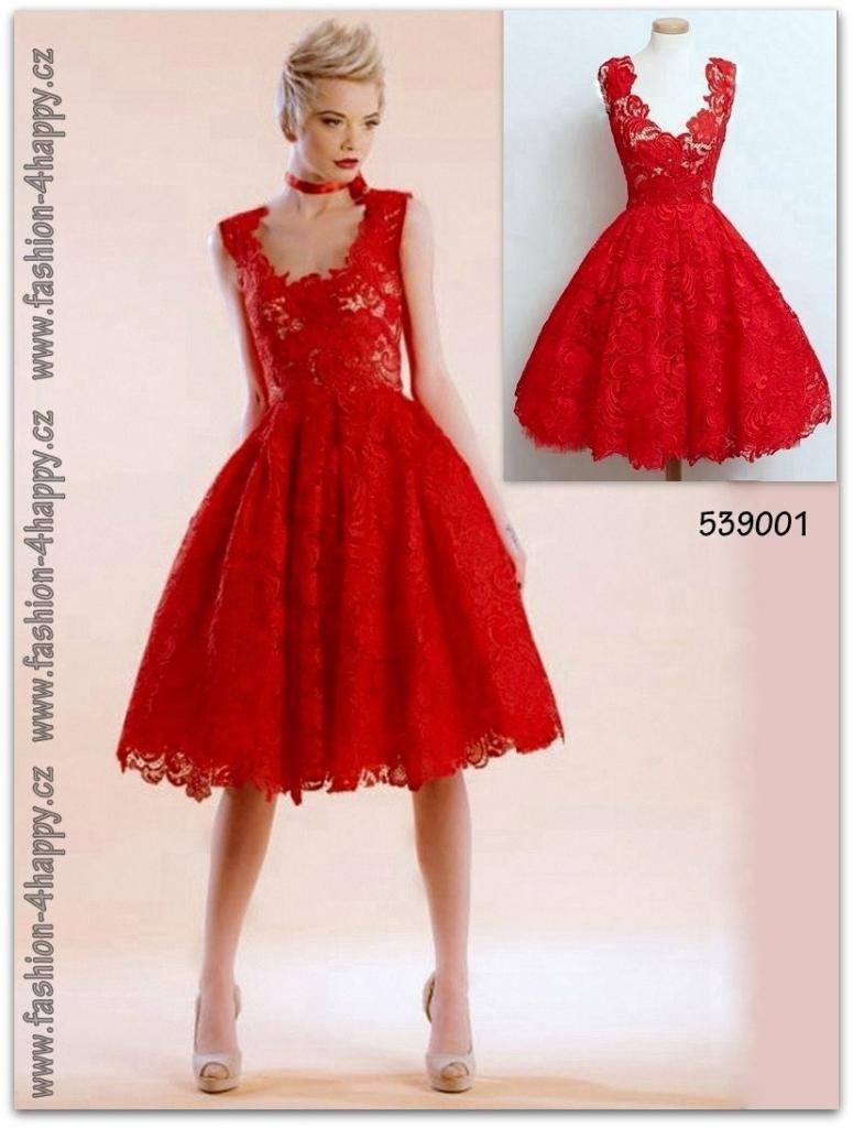 44a316037c9f Plesové retro šaty krajkové krátké 539001 červené alternativy - Heureka.cz