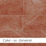 Imit, kamenný obklad Keraton Calvi, 560x280mm, světle červená