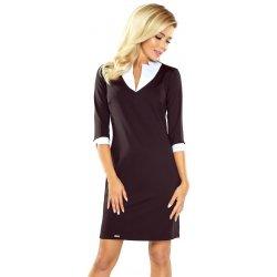 Numoco dámské business šaty s límečkem 110-4 černá od 949 Kč ... d6dd64ff1e8