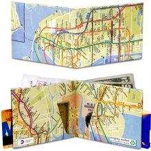Dynomighty Papírová peněženka NYC mapa metra