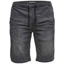 ONLY SONS Pánské kraťasy Linus Jog shorts Grey Pk 9063 Grey denim db41e8eb6c