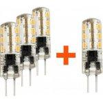 Tesla LED žárovka G4 1,5W 12V AC/DC 90lm 360° 10 000 hod 3000K Teplá bílá CRIRa?80