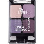 E style Fine & Strong Eye Shadow Quatro oční stíny 4 Heather 6 g