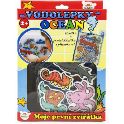 Teddies Vodolepky Moje první zvířátka oceán pěnová sada se síťkou 12ks
