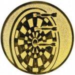 Pohary.com Emblém šipky zlato 25 mm