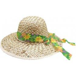 Dámský letní slaměný klobouk se zelenou květinovou mašlí alternativy ... 5a92b20274