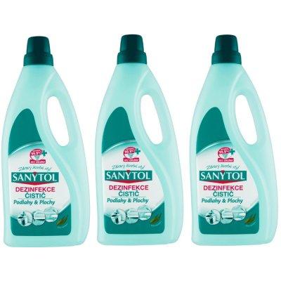 Sanytol dezinfekční univerzální čistič na podlahy 3 x 1 l