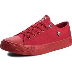 8e64a75f136 BIG STAR Big star plátěné tenisky sneakers AA274007 red