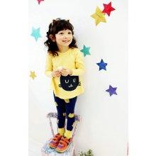 Dívčí komplet legíny a tričko dlouhým rukávem 7018742-1 žlutá
