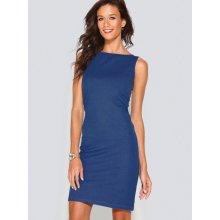 Venca Jednobarevné šaty bez rukávů modrá