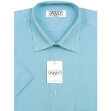 AMJ pánská košile s krátkým rukávem Tyrkysová JK060 217488629e