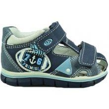 81a69e0c95e7 Primigi Chlapecké kožené sandály s kotvou tmavě modré