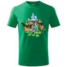 Minecraft dětské tričko 2 středně zelená
