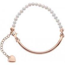 Stříbrný náramek Hot Diamonds Festival Mother of Pearl Rose Gold DL304