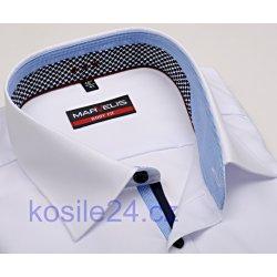 Marvelis Body Fit Bílá košile s dvojitým límcem a vnitřní manžetou a légou  pánská košile dd6f1c81de