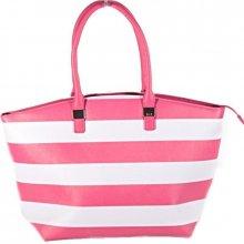 Pruhovaná dámská kabelka Lerry růžová 522ff404dd