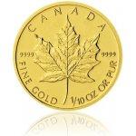 Maple Leaf Česká mincovna Zlatá investiční mince 1 10 Oz 5 CAD stand 3,12 g