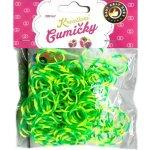 Loom Bands pletací gumičky pruhované zelenožluté 2 200ks + háč