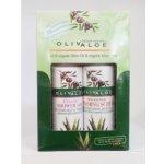 Oliv Aloe Natural cosmetics sprchový gel Classic 90 ml + Peelingový pěnivý gel na tvář a tělo p0 ml dárková sada