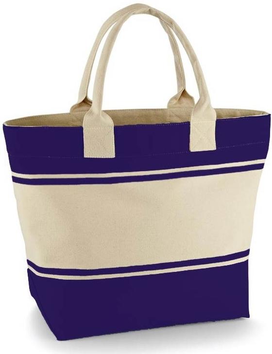 velká plátěná plážová taška modrá a béžová ce3642a1522