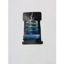 Sponky do vlasů dívčí třpytivé stříbrná - modrá 12492d4f4d