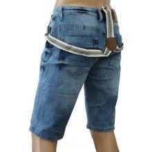 M. SARA kalhoty pánské KR788 kraťasy jeans