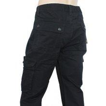 DZIRE kalhoty pánské SM356 kapsáče černé