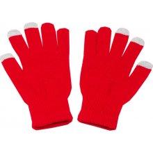 b09d7236df5 dotykové rukavice pro mobilní telefon dámské červená