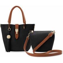 dámská kabelka vak 2v1 kosmetická taštička shopper bag listonoška černá 961256a6c0a
