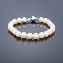 Náramek Buka perlový Mutiara AA 75 bílý