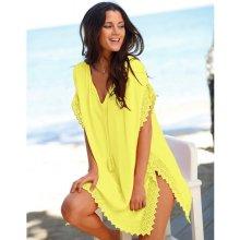 Blancheporte Plážové macramé tunika žlutá