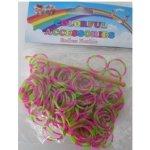 Loom bands gumičky na náramky zelené + růžové