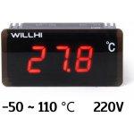 Willhi WH1419A Vestavný digitální teploměr -50 ~ 110 ℃ 220V