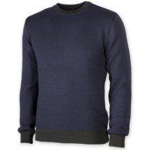 Pánský svetr v modré barvě s kulatým výstřihem