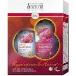 Lavera Bio brusinka Regenerující tělové mléko 200 ml + Krém na ruce 75 ml dárková sada
