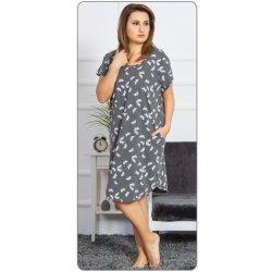 984f5a2657f Dámské domácí šaty s krátkým rukávem Motýlci tmavě šedá alternativy ...