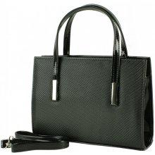 Dawidex kabelka z lakované eko kůže černá