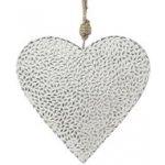 Kovové závěsné srdce s mozaikou, stříbrné - Gasper