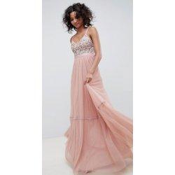 Needle   Thread luxusní dlouhé společenské plesové šaty s výšivkami růžová 4d62a64f65