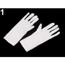 Společenské rukavice 23 cm dámské bílá 6pár