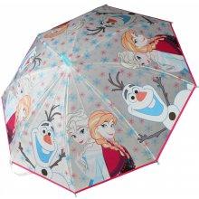 Deštník Frozen průhledný vystřelovací